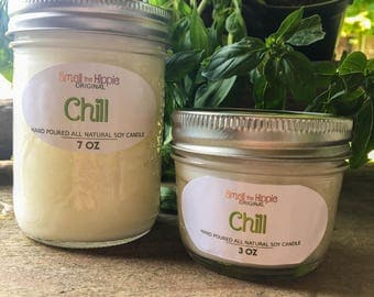 Hand Poured Soy Candle: Chill