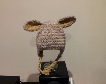 Crochet bunny ears Beanie