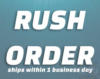 Rush order for Hold True Graphics & Apparel