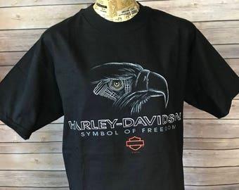 Vintage 90s Harley Davidson Symbol of Freedom T-Shirt (M)