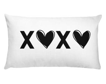 XOXO Rectangular Pillow, xoxo pillow