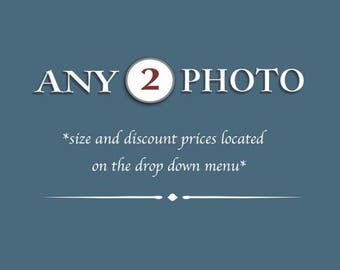 Discounted Set - Customize Any Set of 2 Photography paper prints - SAVE 40%