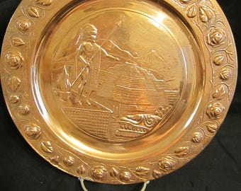 6L   Mexico Embossed Copper Plate