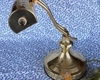Vintage Brass Piano Lamp Desk Lamp Banker's Lamp