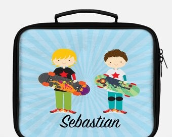 Skater lunchbox, Lunchbox, Lunch bag, Lunch tote, Personalized lunch box, Children's lunchbox, Boys lunchbox, Insulated lunch, School