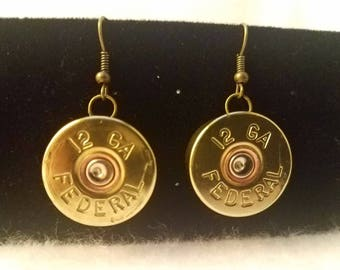 12 g shotgun earrings - Gifts for Her - Bullet Jewelry for Women