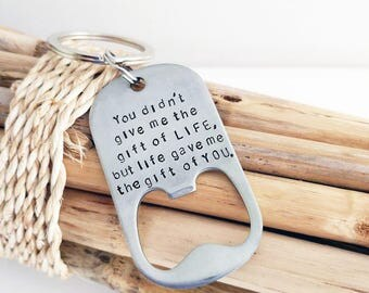 Valentine Gift for Step Dad, Step Father Key Chain, Bottle Opener, Gift for Step Dad from Son, Step Dad Gift, Father's Day
