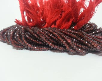 AAA Mozambique Garnet Faceted Rondelle Beads, AAA Red Garnet Beads, Red Garnet Rondelle Beads, Garnet Faceted Beads, AAA Garnet Beads