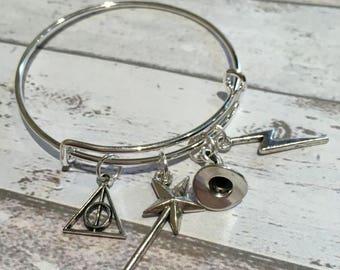 Harry Potter children's charm bangle, girls charm bangle, Harry Potter charm bracelet, Harry Potter girls gift, girls Harry Potter gift,