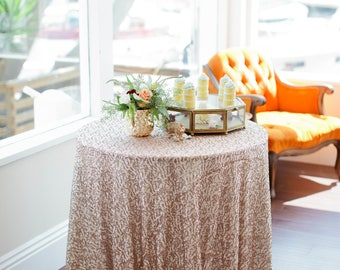 Wedding| Sequin Tablecloth | Sequin Linen | Sequin Tablecloths | Sparkly Table linens | Champagne sequin table cloth | Wedding table decor |
