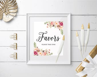 Wedding Favors Sign, Wedding Signs Set, Favors Please Take One Sign, Printable Favors Sign, Printable Wedding Sign, Instant Download, Set2.4