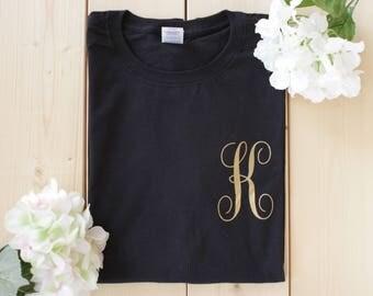 Monogram Wedding Shirts, Custom Monogram Shirts, Monogrammed Shirts, Bridesmaid Shirts, Bride Shirts, Custom Shirts, Initial Shirts