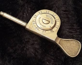 Vintage 1905 L S Starrett RPM Machine Measure
