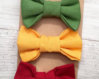 Three pack, Baby bowtie, toddler bow tie, bow tie onesie, Ring bearer, Infant bow tie, Newborn bow tie, bow tie onesie, kids bow tie, bowtie