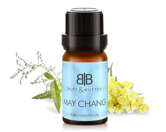 May Chang (Litsea Cubeba) Essential Oil 100% Pure Natural Fragrance Aromatherapy - 1ml Tester Vial, 10ml, 30ml, 50ml, 100ml Bottle