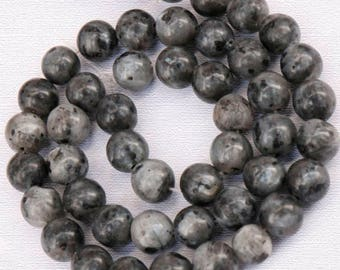 Natural Black Labradorite Beads, Black White Gemstone Beads, Round Natural Beads, 4mm 6mm 8mm 10mm 12mm 14mm