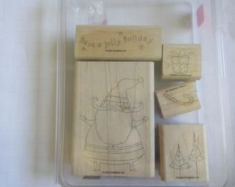 Stampin Up' Sets Jolly Holiday Used Stamps