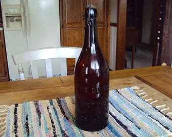 Old Bottle, Vintage Bottle, Primitive Bottle, Antique Bottle, Glass Bottle, Old Glass Bottle, Corked Bottle, Brown Bottle