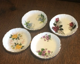 Princess House Exclusive Hammersley Fine Bone China Small Collectors Plates, Set of 4
