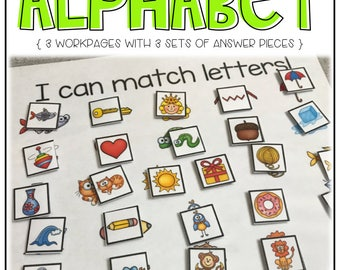 Premade Alphabet Workpages and Answer Pieces