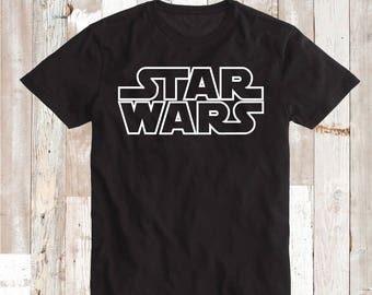 Star Wars Tee Shirt Tees Star Wars Outline Tees Star Wars T-Shirt Star Wars Logo Kids Star Wars Birthday Shirt Starwars Tee Graphic, bb15