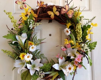 Spring Lily Wreath