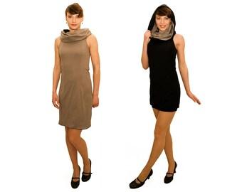 LASALINA, 4inONE, slim fit, Little black, comfortable, organic cotton, collar, Fairtrade clothing