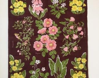 Vintage Floral tea towel/wall art