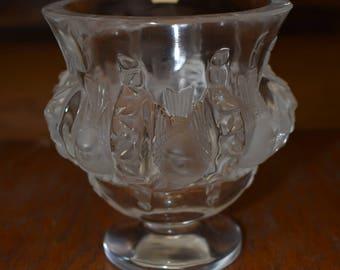 "SALE: Vintage Lalique ""Dampierre"" Sparrow Vase, Signed"