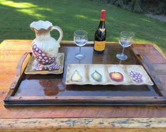 Serving Tray / Platter  -  Reclaimed Wood & Hardware