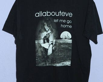All About Eve Let Me Go Home tour t-shirt (Large) GOTH BAUHAUS CURE the sisters of mercy the mission siouxsie and the banshees cocteau twins