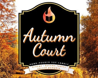 Autumn Court - Hand-Poured Soy Wax Candle Inspired by The A Court of Thorns and Roses Series