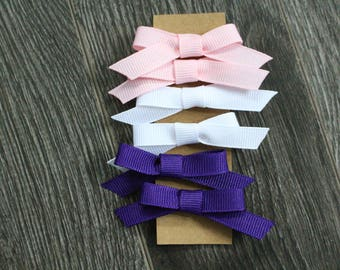 MINI PONYTAIL BOWS || clear elastics