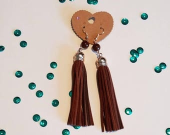 Leather Lightweight Tassle Earrings