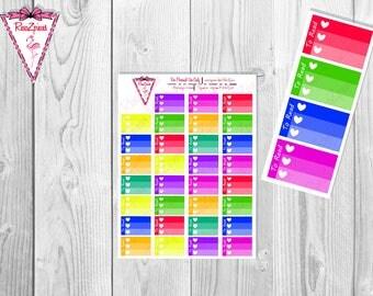 Printable To Read Half Box Checklists - Bright Colors