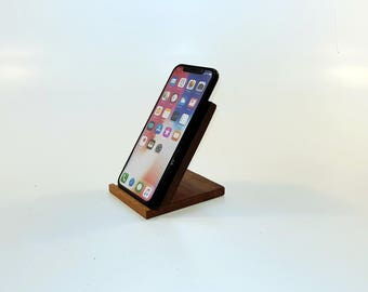 Iphone X,iphone 8 Wood wireless charging pad Wood wireless stand. Mahogany wireless charging stand. Wood Samsung Galaxy S8 wireless charger.