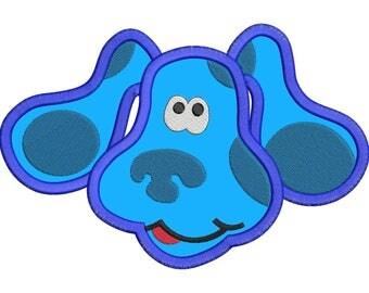 Blues Clues Disney Applique Embroidery Design - Instant Download