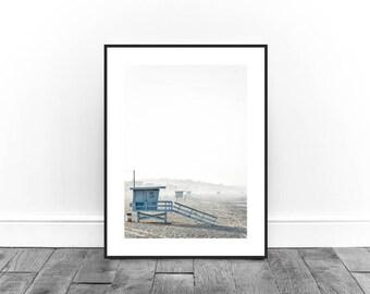 California Print, On the Beach Print, Summer Print, Sky Sun and Sand Print