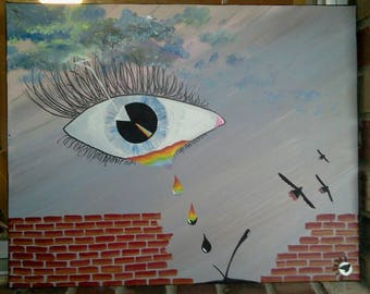 Pink Floyd Wall Art pink floyd art | etsy