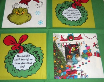 How the Grinch Stole Christmas Story Blocks Panel