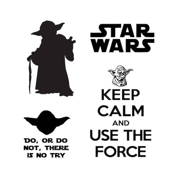 Star Wars svg Master Yoda svg SVG DXF Png Vector Cut File