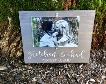 Personalized Rustic Wood Picture Frame/Wedding Frame