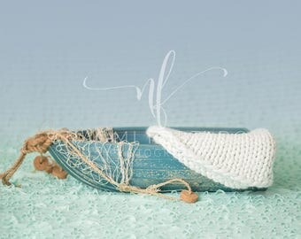 Digital Background - Turquoise boat