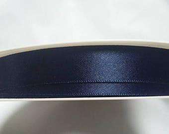 15mm Double Satin Ribbon 3 colours navy blue orange yellow