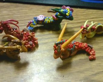 Candy Dragons - OOAK miniatures