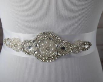 Bridal Sash, Crystal Wedding Sash Belt, Wedding Sash, Bridal Sash Belt, Wedding Belt, Rhinestone Bridal Sash Belt, ITEM #SSVC