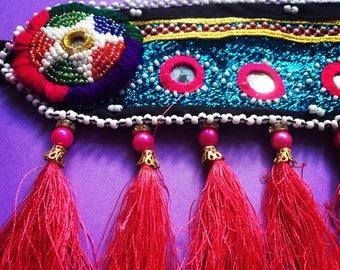 Colouful Hippie Gypsy Chic Tassel Headpiece Festival Headdress