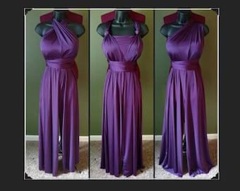 Purple infinity jumpsuit (size L)