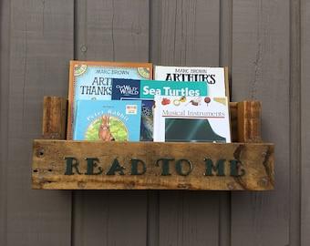 Nursery Bookshelf,Read To Me Nursery Bookshelf, Nursery Book Shelf, Bookshelf, Hanging Book Shelf, Book Shelf