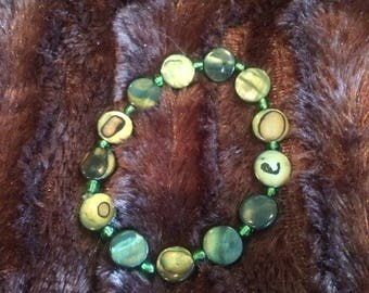 Green Circular bracelet